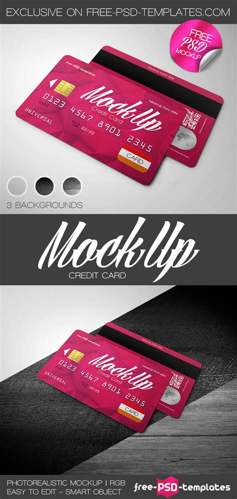 credit card mockup template free credit card mock up in psd free psd templates