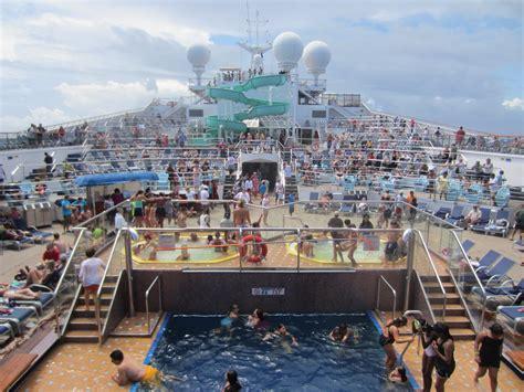 carnival cruise line carnival glory ship swimming pool