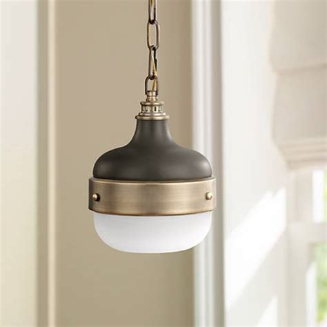 brass mini pendant light feiss cadence 8 quot wide antique brass mini pendant light
