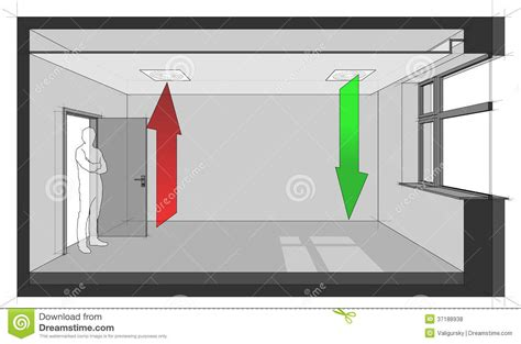 air in room ceiling air ventilation diagram stock vector image 37188938