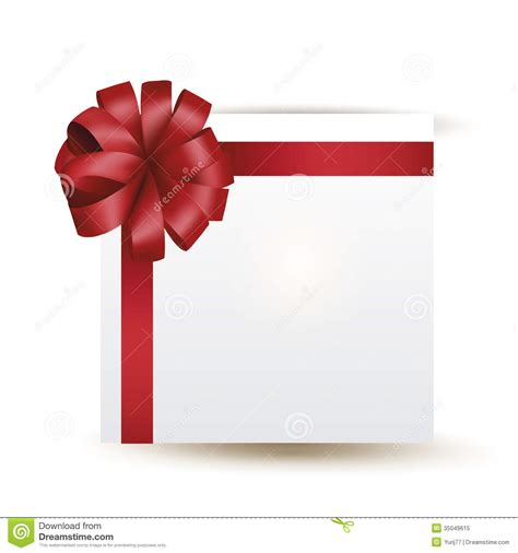 Vector gift with red bow stock vector. Image of paper