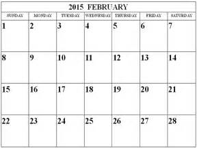 2015 Calendar Template February by February 2015 Calendar Printable Calendar Template 2016