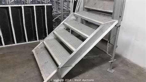 foldable stairs west auctions auction surplus inventory of staging