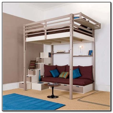 queen loft bed with stairs queen loft beds with stairs beds home design ideas