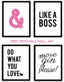 printable decor free printable wall from chicfetti free printables