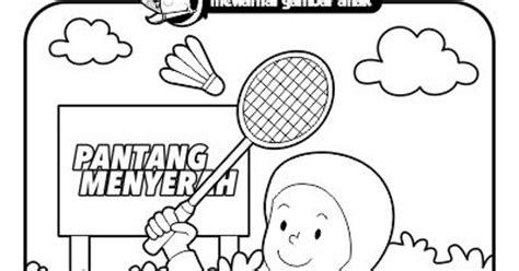 badminton mewarnai mewarnai gambar anak mewarnai gambar anak bermain bulu