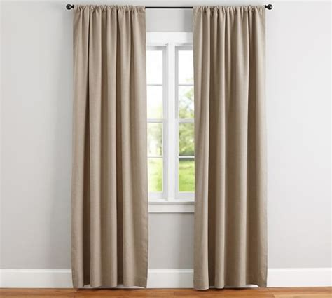 drape curtains emery linen cotton pole pocket drape pottery barn