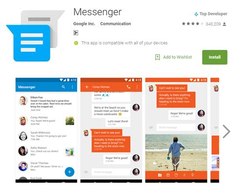 masenger apk messenger 2 0 68 gets new launcher icon and unread counts to various launchers mobipicker