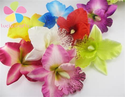 aliexpress buy 6pcs silk artificial flower iris aliexpress buy lucia crafts 6pcs silk gradient orchid artificial flower for wedding
