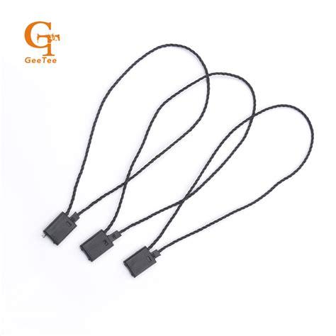 swing tag string black hang tag nylon string strings cord snap lock pin