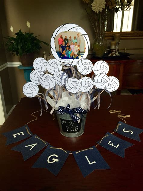 Volleyball Centerpiece Painted Created By Me Soccer Banquet Centerpiece Ideas