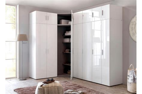 Armoire D Angle Dressing by Armoire D Angle Dressing Blanc Brillant Design Cbc Meubles