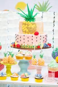 Pool Table Cakes Summer Fun Tutti Frutti Party