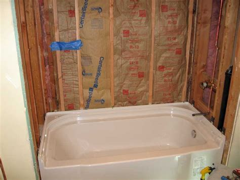 diy bathtub installation sterling accord bathtub installation with pictures
