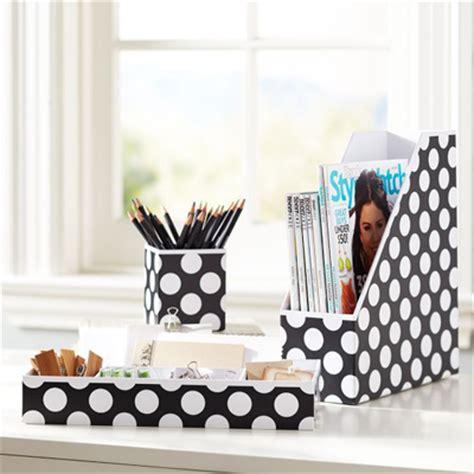 preppy desk accessories black dottie preppy paper desk accessories decor by color