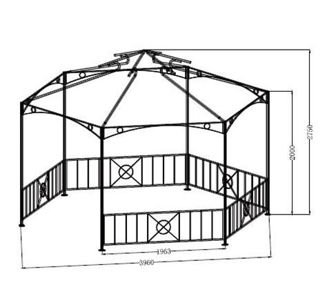 pavillon 6 eckig 4 m gartenpavillon 6 eckig shop gonser