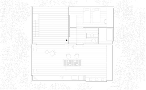 Simple House Floor Plan go hasegawa pilotis in a forest