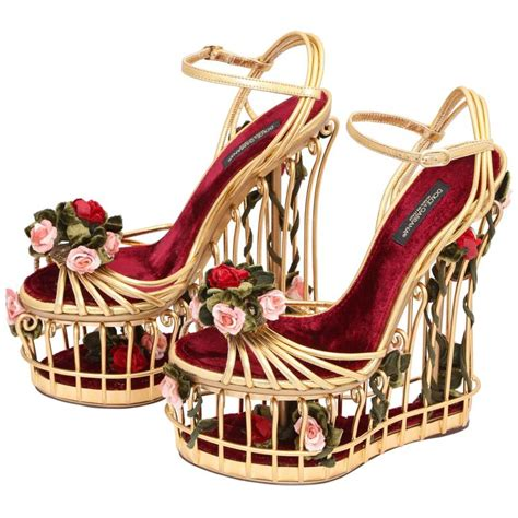 dolce and gabbana shoes dolce and gabbana runway cage heel shoes