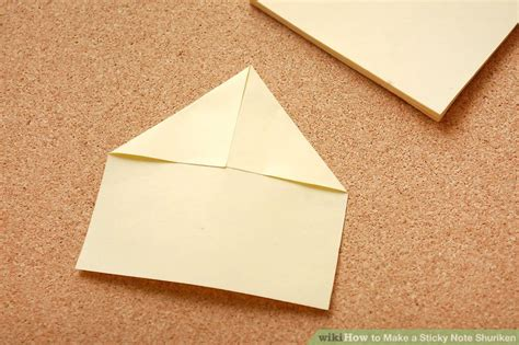 how to make a sticky note shuriken 9 steps with pictures
