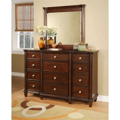 small bedroom dresser small dresser with mirror 6drawer dark mahogany chase