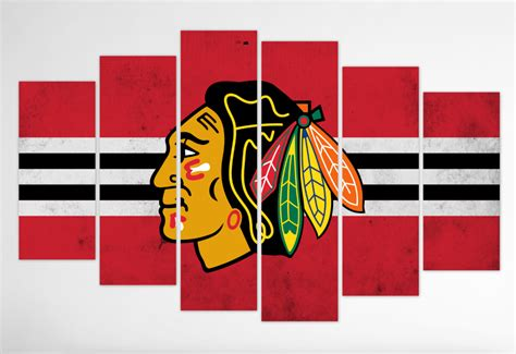 Chicago Blackhawks Canvas Wall blackhawks wall canvas prints paintings