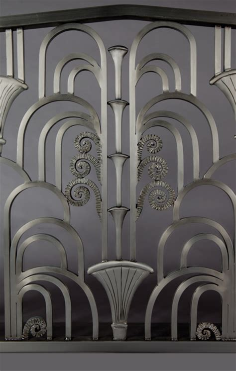 kramer design studio custom design and fabrication of the stylish art deco fireplace screen pertaining to your