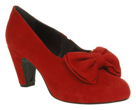 Bow Shoes womens office friendly bow suede heels shoes new ebay