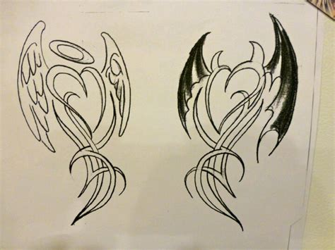 angel and demon tattoo drawings pinterest the world s catalog of ideas