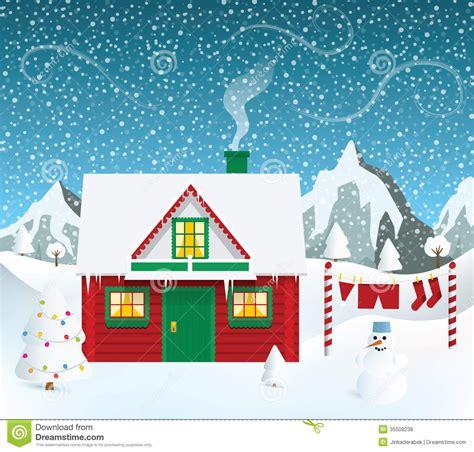 santa s house santas house stock vector image of decoration nature 35508238