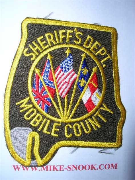 Mobile County Sheriff Office by Mike Snook S Patch Collection State Of Alabama