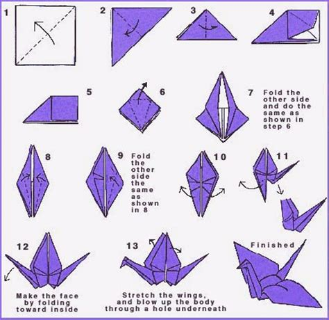 Free Origami - origami peace crane directions world peace