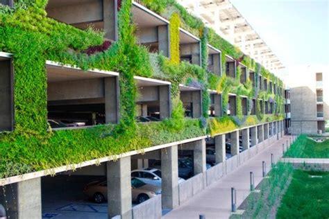 green wall parking garage  seasons natural engineering