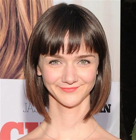 hairstyles with bangs cut straight across short haircuts with bangs side swept choppy straight