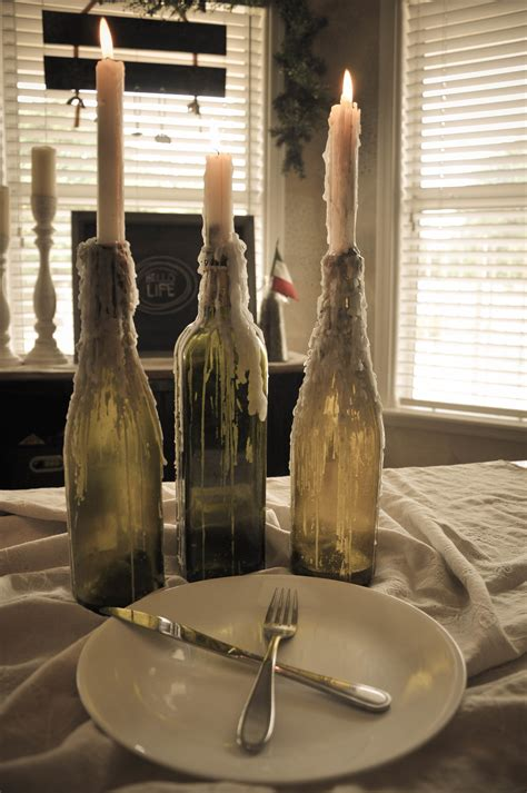 Halloween Decorations To Make At Home Diy Wine Bottle Candle Holders The Copper Anchor