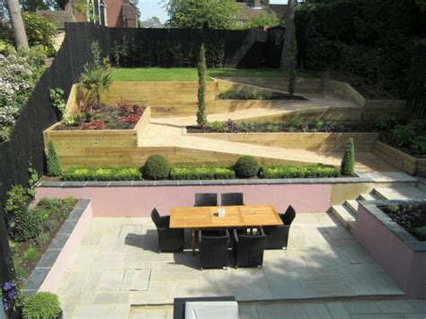 Sloping Garden Design Ideas A Designing Steeply Sloping Garden Design In Gerrards Cross Finished
