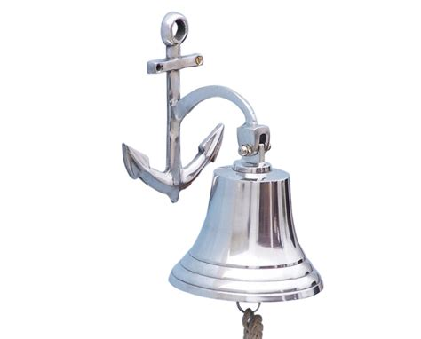 buy chrome hanging anchor bell 10 inch wholesale sealife