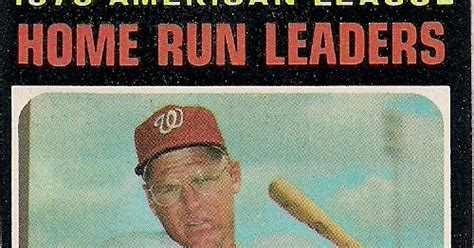 topps 1971 no 65 1970 american league home run leaders
