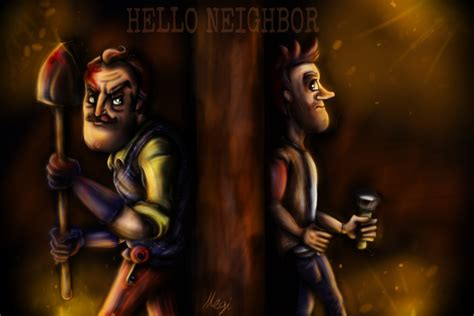 hello neighbor fan games hello neighbor by megiw on deviantart