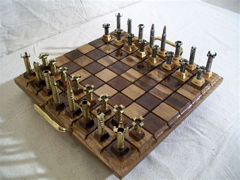 unique chess set caliber 223 unique chess set for cautious players