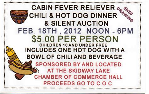 Cabin Fever 2012 by Cabin Fever Reliever Skidway Lake S Fishing Derby