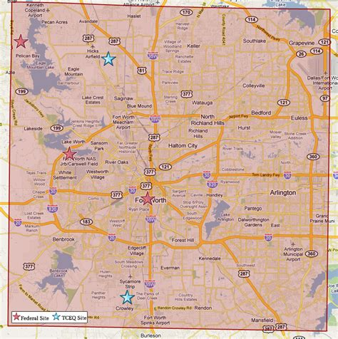 map of tarrant county texas superfund in tarrant county tceq www tceq texas gov