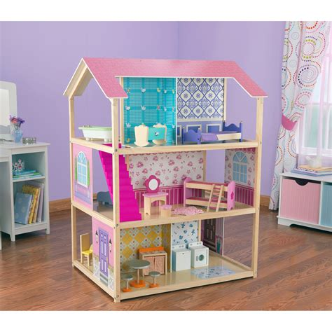 a doll house play kidkraft deluxe play around dollhouse toy dollhouses at hayneedle