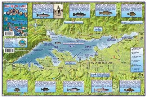 lakes in southern california for boating big bear lake fishing boating recreation waterways map
