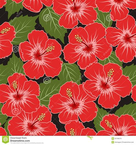 hawaiian pattern vector free vector seamless tropical pattern royalty free stock image