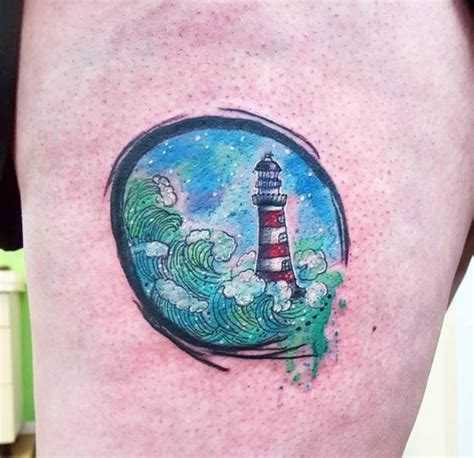 impressionist tattoo 40 lighthouse designs tattooblend