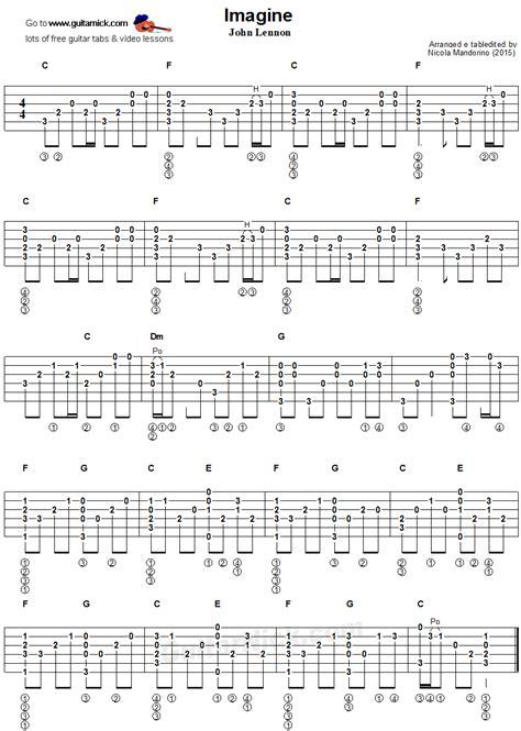 fingerstyle en la guitarra imagine fingerstyle guitar tablature muzika partituras guitarras y partitura