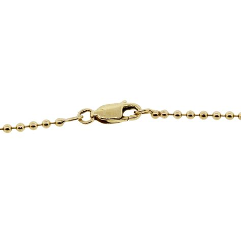 14k yellow gold 0 32ctw bead chain necklace