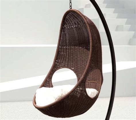 rattan swinging egg chair cozy egg swing chair design for seating areasthe best