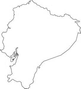 outline of map geography ecuador outline maps
