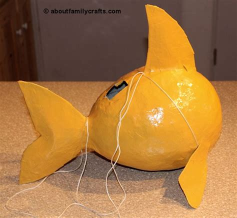 How To Make Paper Spray - make a paper mache pinata fish about family crafts